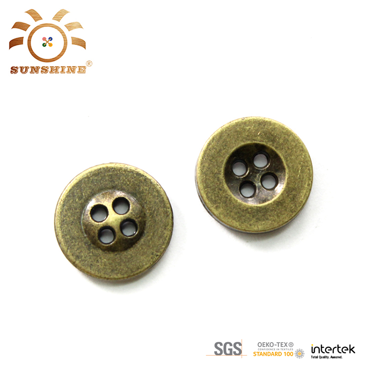 4 hole Anti brass metal shirt buttons