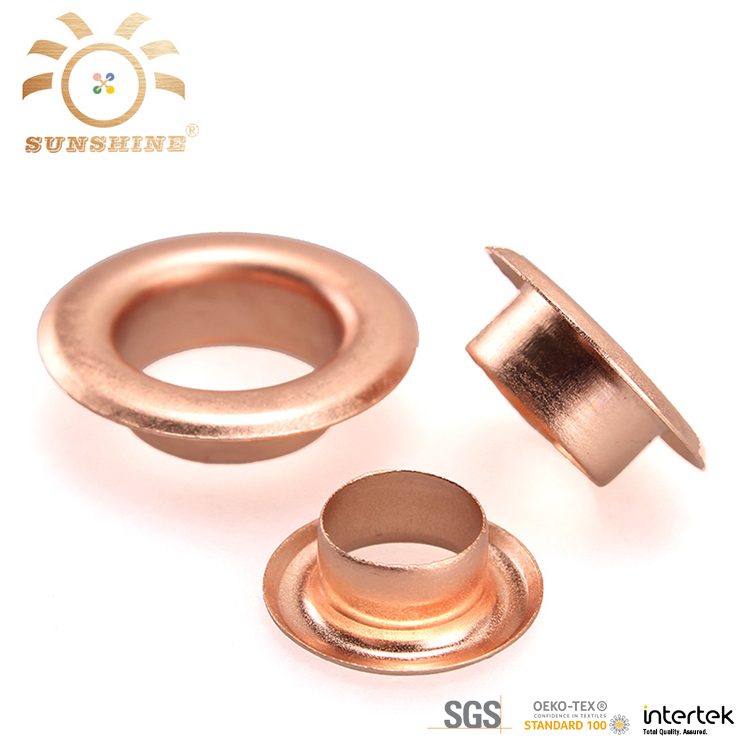 Brass garment rose gold metal eyelet for shoes