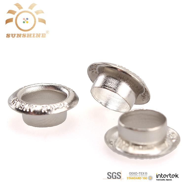 Engraved logo stainless steel ring metal eyelet manufacturer