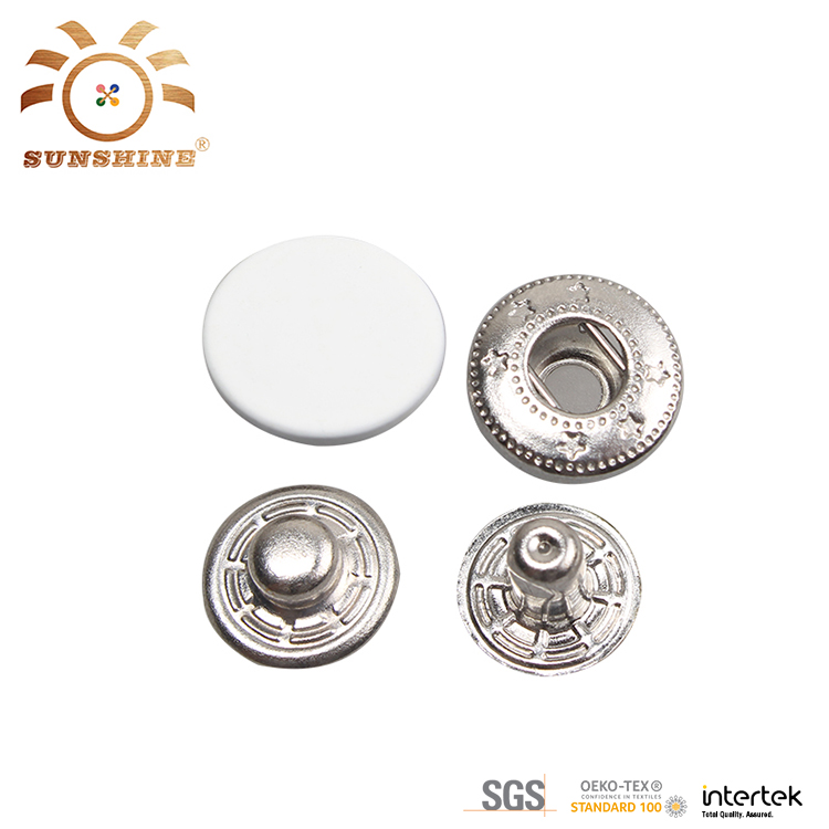 Custom design metal press stud snap button for clothing