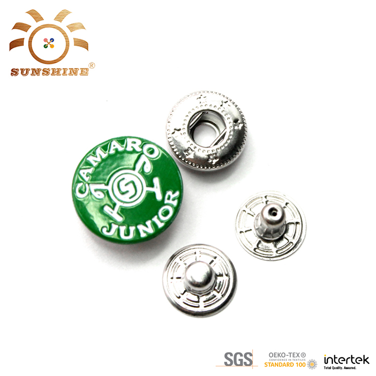Customized design brass parts press metal snap button for shirts