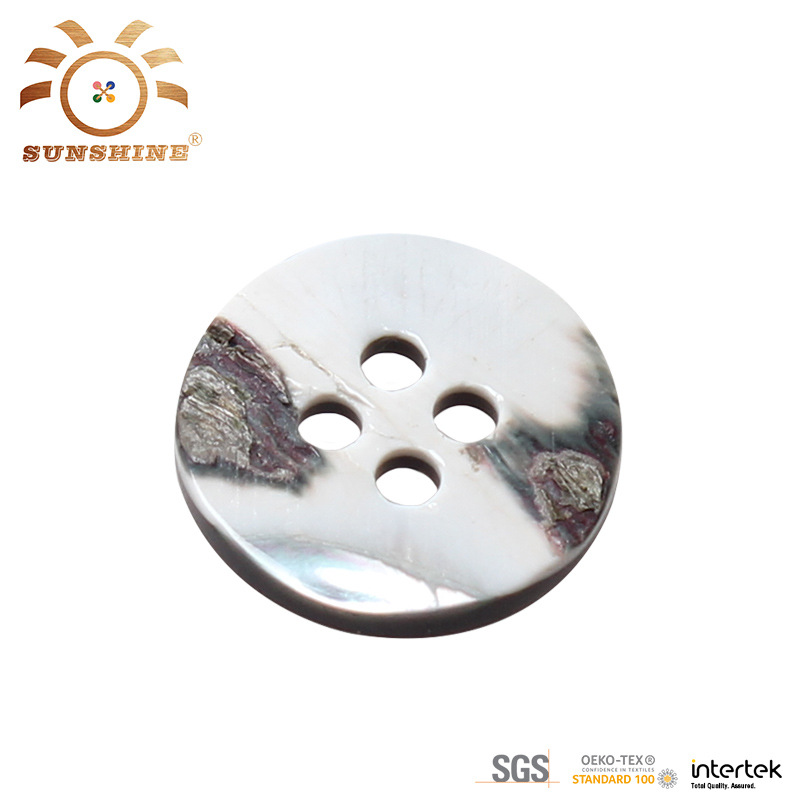 Special design 4 hole shell resin shirt button