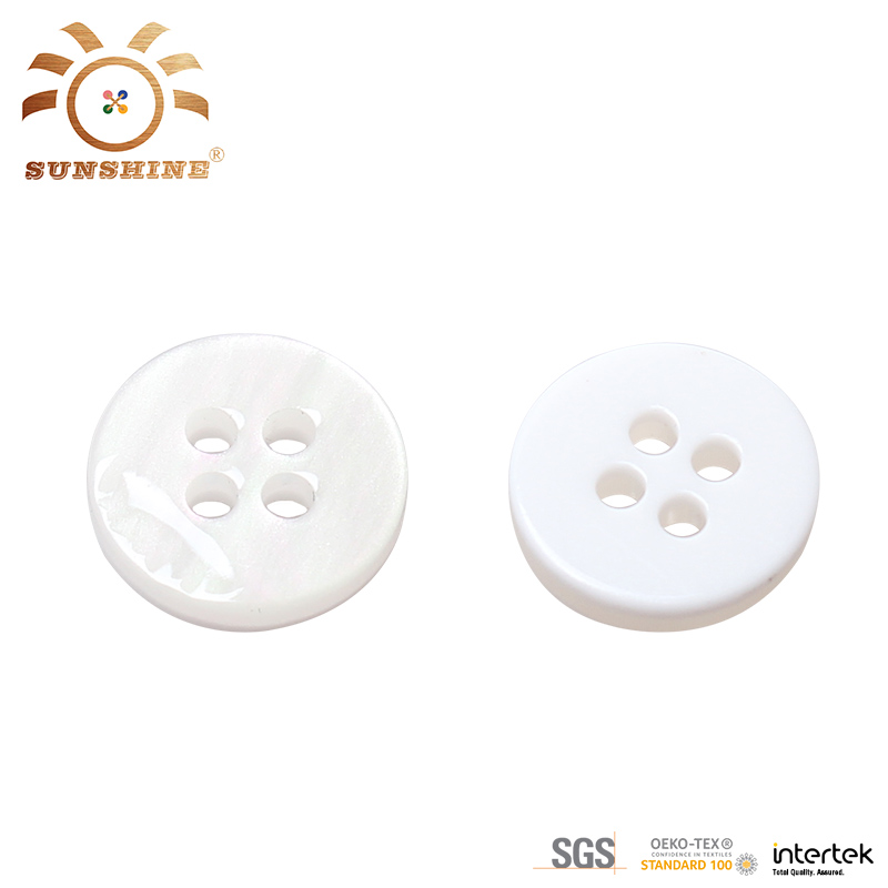 Plastic resin fancy elegant 4 hole sew button
