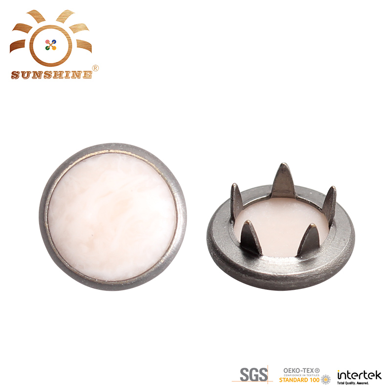 10mm Round Pearl Prong Snap Button